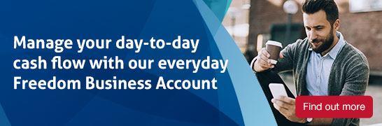 Manage your day-to-day cash flow with our everday freedom business account