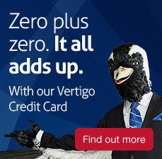 Zero plus zero. It all adds up. With out Vertigo Platinum card. Fin d out more.