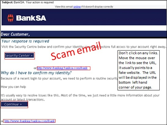 Hoax email exmaple
