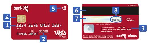 Visa Debit Card  BankSA