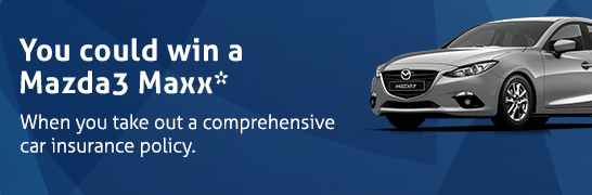 You could win a Mazda3 Maxx*. Find out more.