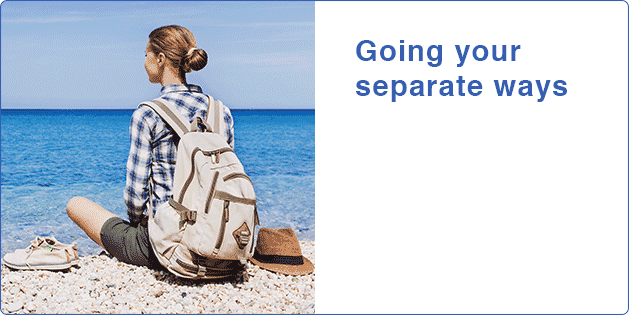 Going your separate ways
