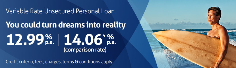 Variable Rate Unsecured Personal Loan