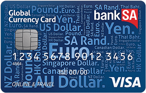 Bank of SA travel money card