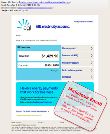 AGL electricity bill